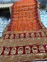 Designer banarasi Bandhej silk saree