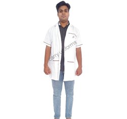 Half Sleeves White Lab Coat, For Hospital, Machine wash