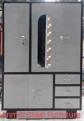 Metal 5 Doors Steel Almirah with drawer, For Home