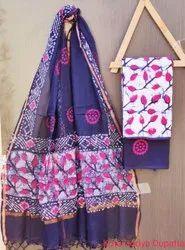 Cotton Hand Block Printed Kota Doria Suits