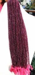 Garnet fasciated beads