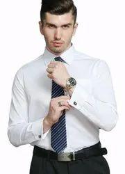ERAZOR 100% Cotton Premium White Formal Shirt, Handwash