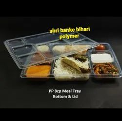8 Compartment Meal Tray With Lid