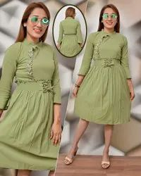 Imported Multicolor Toko Pearl Midi Western For Ladies And Girls Wear, Size: Free size