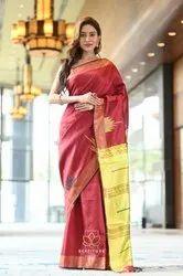 Tussar Silk Thread Weaving Saree