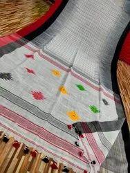 Khadi Cotton Check Ikkat Sarees