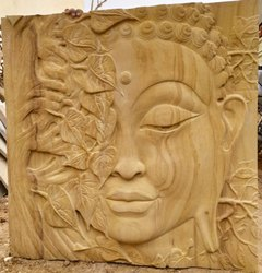 Teakwood Sandstone Mint & Teak CNC Designs, in Pan India, For Indoor