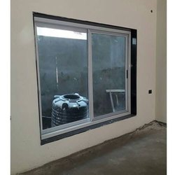 Aluminium Powder Coating Two Track Sliding Window, For Walls