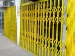 Yellow Stainless Steel Collapsible Gates