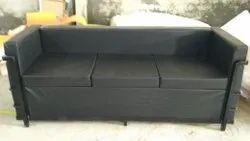 Mild Steel Fabric Metal Sofa Set 3 Seater, Size: As Desired