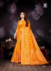 Party Wear Border Bahubali Saree, 6 m (with blouse piece)