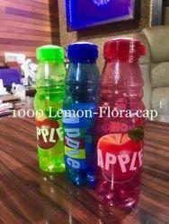 Blue Green Red 1000 Lemon Flora Cap Plastic Fridge Water Bottle