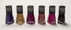 Crazy Shiny Combo of 12 Nail Polish, For Personal, Packaging Size: Corrugated Box Plain