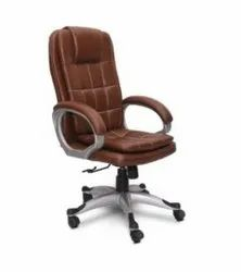 Leather Revolving Chair, For Office, Light Brown