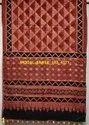 Natural Dyed Ajrakh Hand Design Silk Sarees