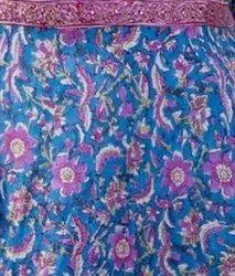 Cotton Formal Wear Jaipuri Print Anarkali Kurti with pant, Wash Care: Machine wash