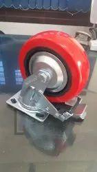 6 X 2 Pu Wheel Hd Fabricated Bracket Brake Type