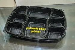 Disposable 8 Cp Meal Tray With Lid