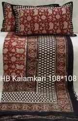 TOUCH FEEL Handblock Kalamkari bedsheet