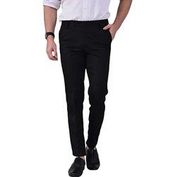 Formal Wear Men Black Trouser