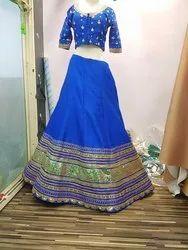 Royal Blue Chaniya Choli Gota Patti Work
