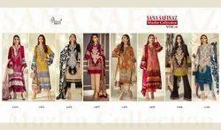 Shree Fabs Sana Safinaz Muzlin Vol 6 Pakistani Lawn Embroidery Suits