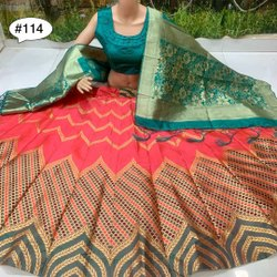 Brocade Banarasi Silk Lehenga