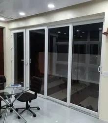 Designer L Handle Upvc Glass Door, 8 Mm