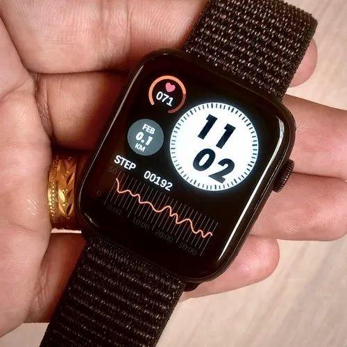 Black FK75 smart watch