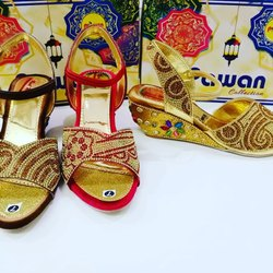 Pawan Collection Wedge Heel Ladies Fancy Sandal, Size: 7 To 10