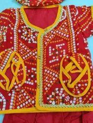 Red Cotton Kids mundan suit