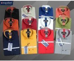 SNAPSHIRT Cotton Mens Plain Casual Shirts