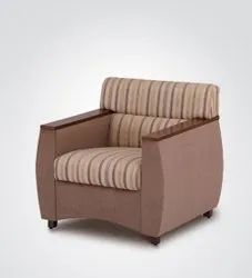 1 Seater Wooden Sofa Chair, For Home