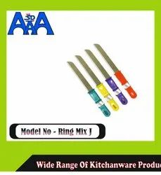 Stainless Steel Multicolor Ring Mix J Knives