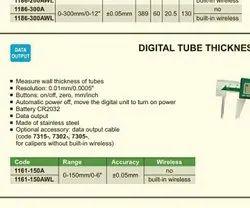 Digital Steel Tube Thickness Caliper, Size/Dimension: Given
