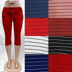 Cotton Stretch 3/4, Women Shorts, Women 34th Pant, Cotton Ll 3/4, Girls 3/4, Women Shin Length