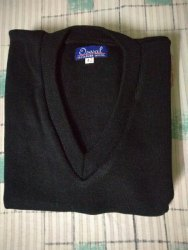 Men Half Sleeves Black Sleeveless Sweater 40 Size