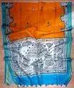 Hand Block Painted Linen Sarees