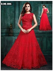 Net Red Readymade Dress, Size: Free Size