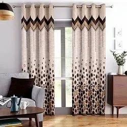 Printed Bedroom Jute Curtains