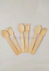Ansh Disposable Sugarcane Bagasse Cutlery, Size: 140 Mm