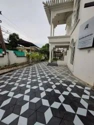 Grey Concrete 3D Design Pavers, For Flooring, Thickness: 60mm