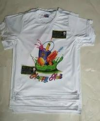 Polyester Casual Wear Holi T Shirts For Kids