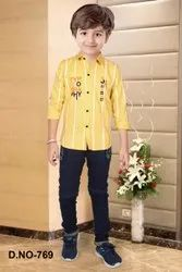 Printed Casual Wear Boy's Full Suit