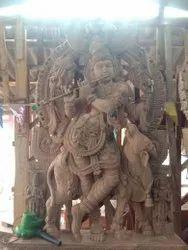 Lord Krishna Wooden Statue