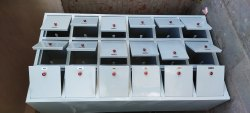 Off White 18 Boxes Steel Almirah Locker, Size: Big