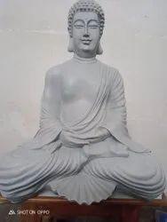 Jaipurcrafts Multicolor Fiber Buddha Statue, Size/Dimension: 15