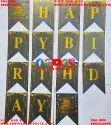 Happy Birthday Banner (Golden Print)
