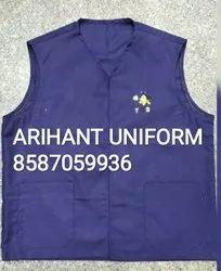 Cotton/Linen Unisex Hotel Vest Coat