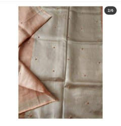 Tissue Linen Hand Weave Moti Sarees